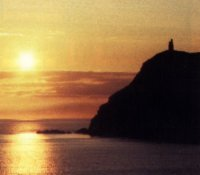Sunset over Port Erin Bay